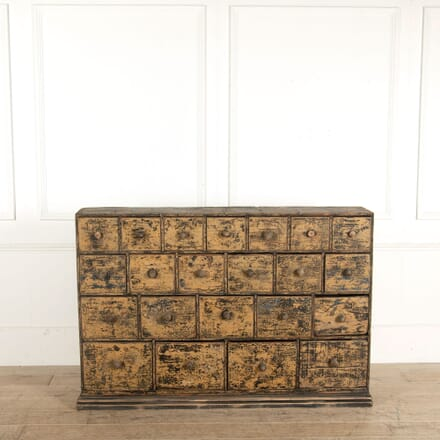19th Century Bank of Apothecary Drawers OF993547
