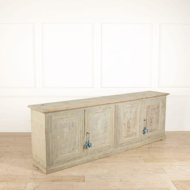 18th Century French Long Enfilade with Original Blue Paint DB448049