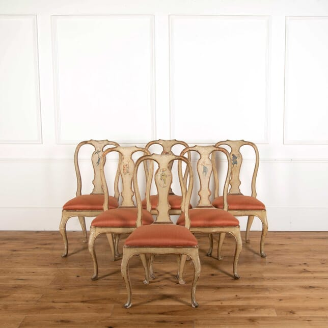 18th Century Painted Italian Dining Chairs CD908330