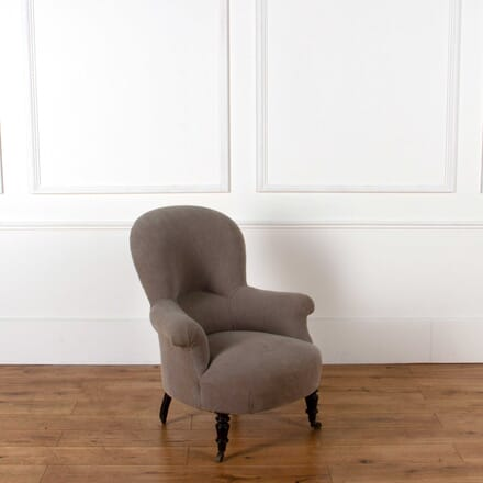 1920s French Spoonback Armchair CH018421