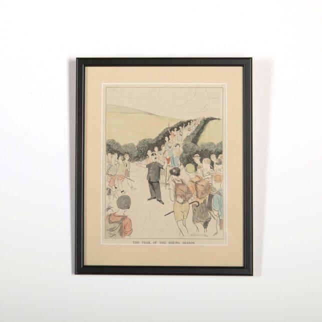 1931 English Cartoon; The Height of the Hiking Season Ridgwell WD288521