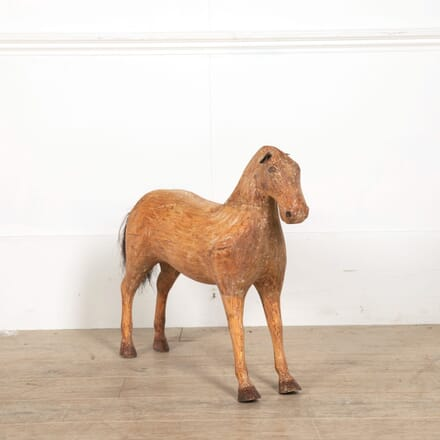 19th Century Carved Wooden Horse DA608000