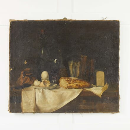 19th Century French Still Life Oil on Canvas WD068481