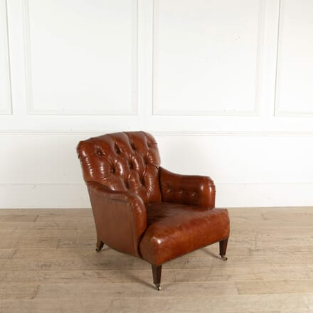 19th Century Howard & Sons Leather Armchair CH998947