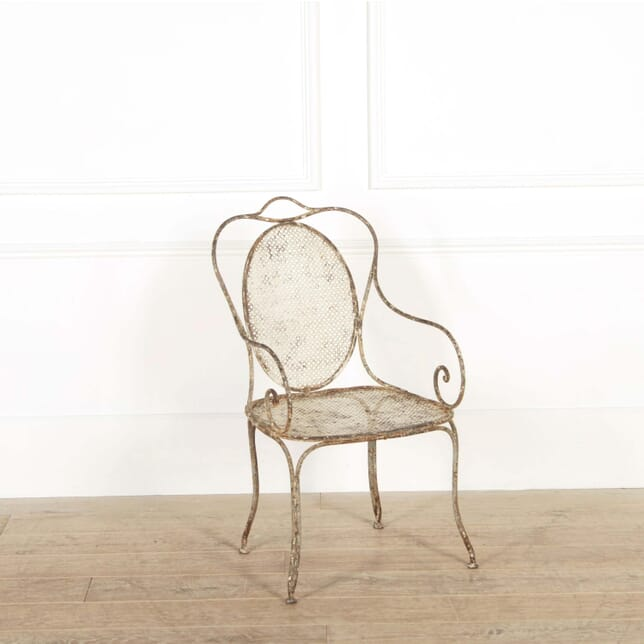 19th Century Single French Iron Chair GA448747