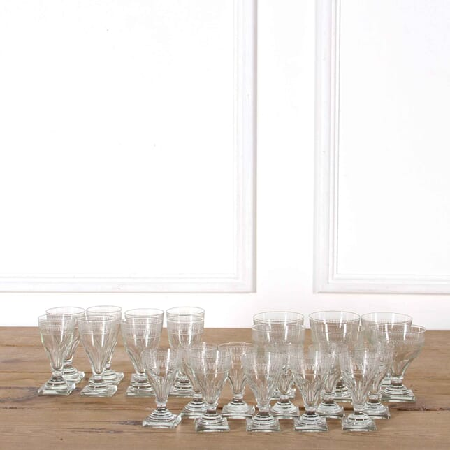 19th Century Swedish Etched Drinking Glasses with Provenance DA518219