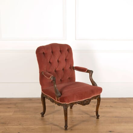 19th Century Walnut Armchair CH478820