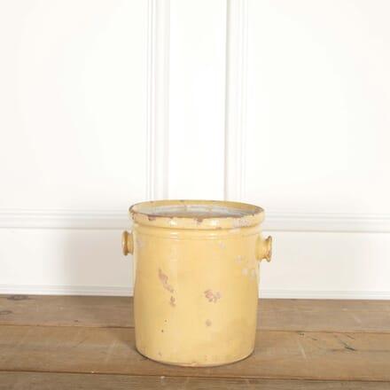 19th Century Yellow Glazed Pot DA448732