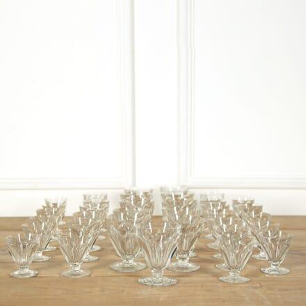 35 Vintage Baccarat Crystal Drinking Glasses DA588977