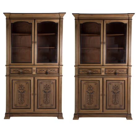 Pair of 19th Century Walnut Bookcases BK4858604