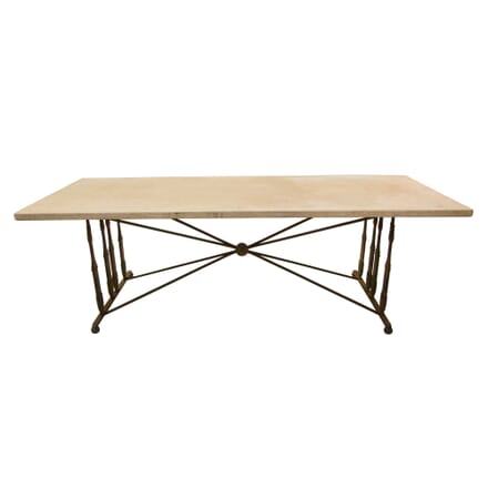 1950s French Cast Iron Table TC0258817