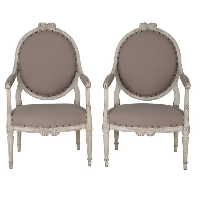 Pair of Painted Armchairs CH0659350