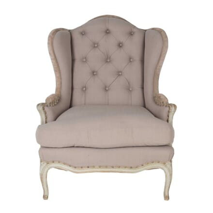 French Painted Button Back Armchair CH0659363