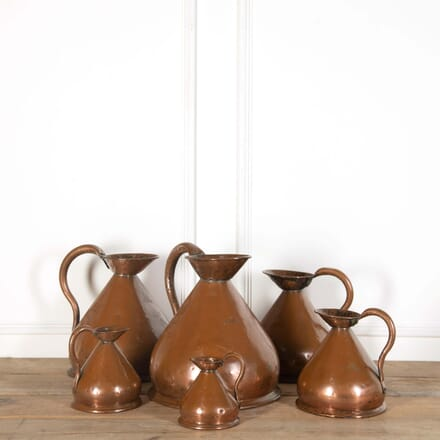 6 Copper Measuring Jugs DA558677