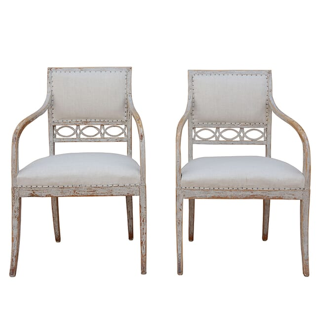 Pair of 19th Century Swedish Directoire Chairs CH1260881