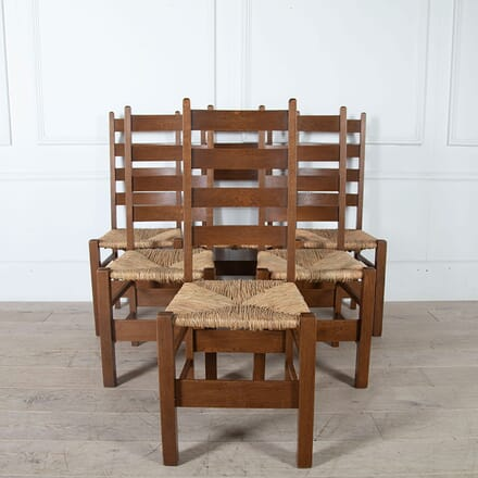 Heals Letchworth Oak Dining Chairs CD0561121