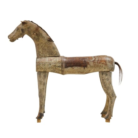 Swedish 19th Century Painted Carved Wooden Horse DA0661401