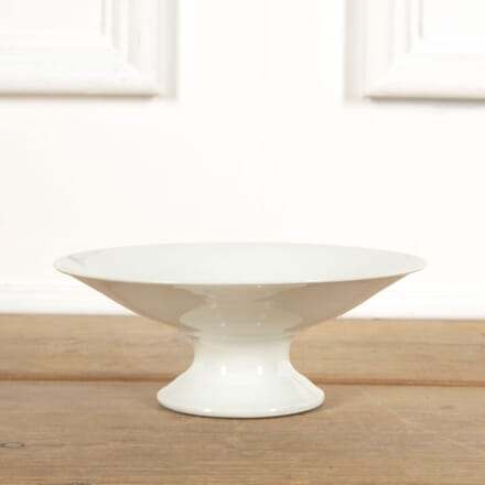 White French Porcelain Raised White Plate DA4461552