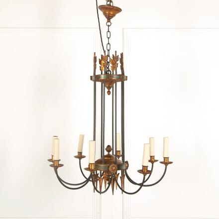 8 Branch Gilt and Painted Chandelier LC218038