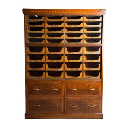 Walnut 1930s Haberdashers Drawers BK5355977