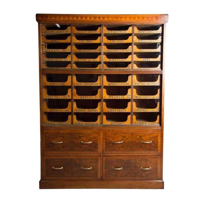 20th Century Walnut Haberdashers Drawers BK5355977