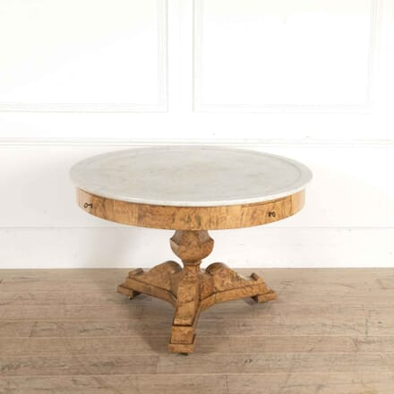 Bleached French Walnut and Marble Library Table TC018135