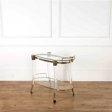 Brass and Lucite Trolley TS538198