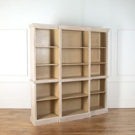 Breakfront Bleached Open Bookcase BK368259