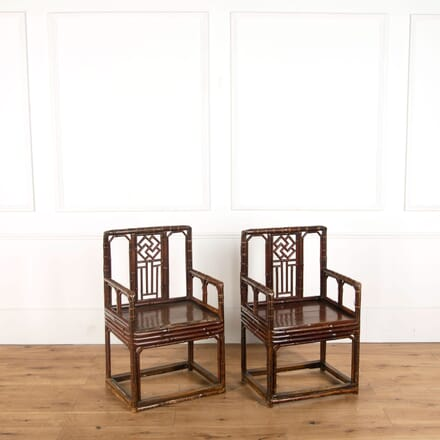 Brighton Pavillion Style Bamboo Armchairs CH478834