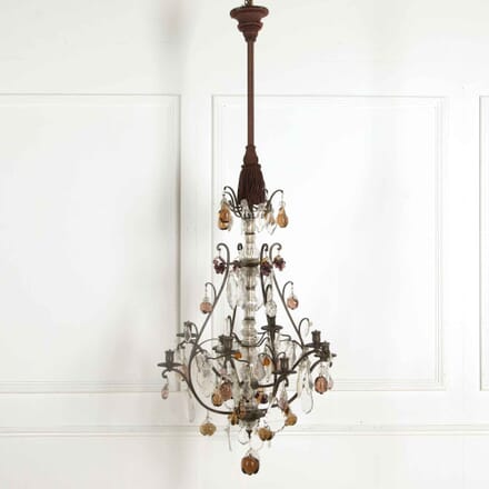 Bronze and Glass Fruit Chandelier LC018139