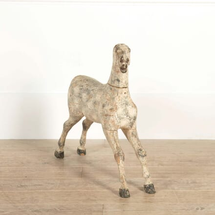 Carved 19th Century Wooden Horse DA608641
