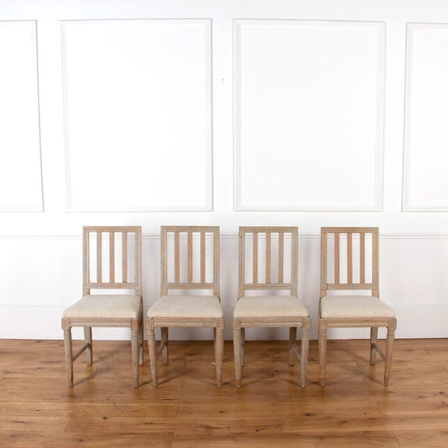 Four Painted Gustavian Dining Chairs CD016051