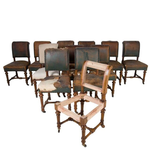 Set of 12 Oak Dining Chairs CD1012723