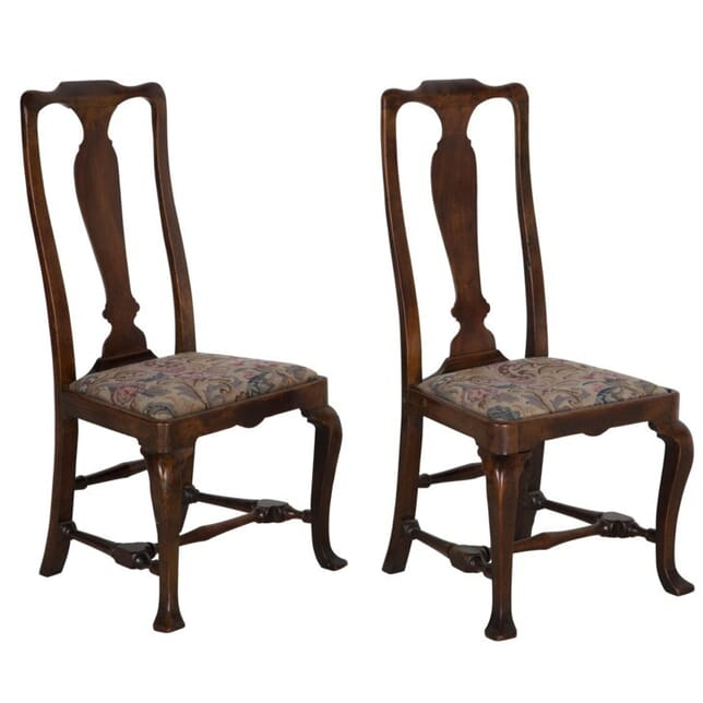 Pair of 19th Century Walnut Dining/Side Chairs CD106453