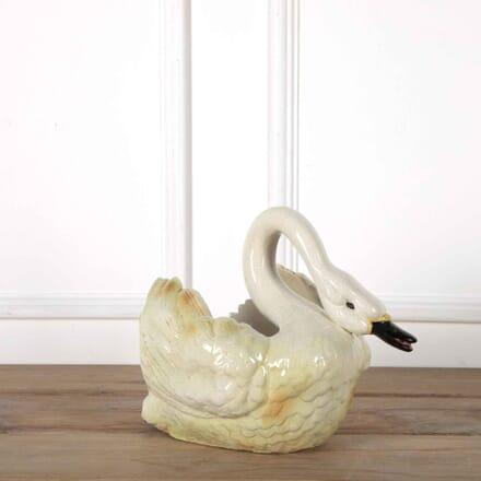 Ceramic Swan Jardiniere GA438096