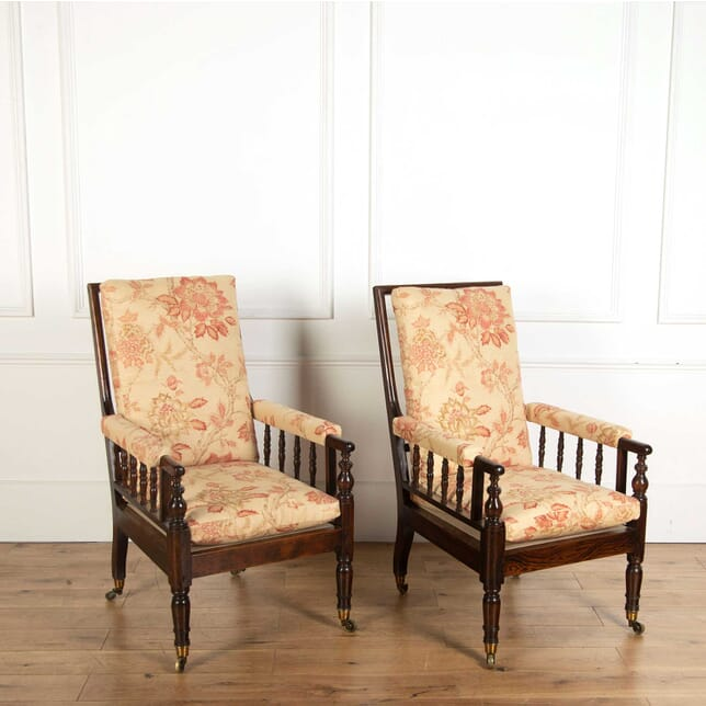 Large Scale Pair of Regency Library Armchairs CH018134