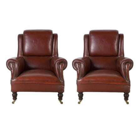 Pair of Leather Club Chairs CH0812913
