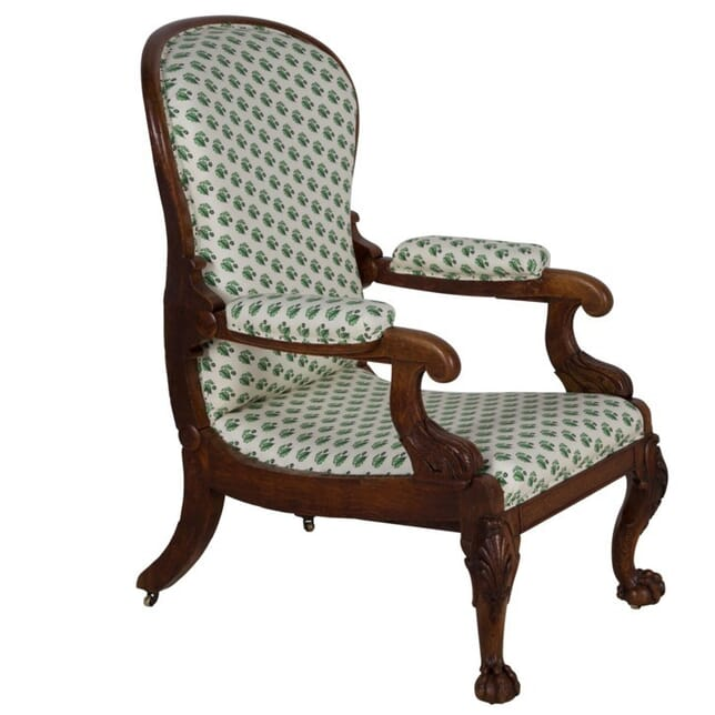 19th Century Oak Reclining Armchair CH107887