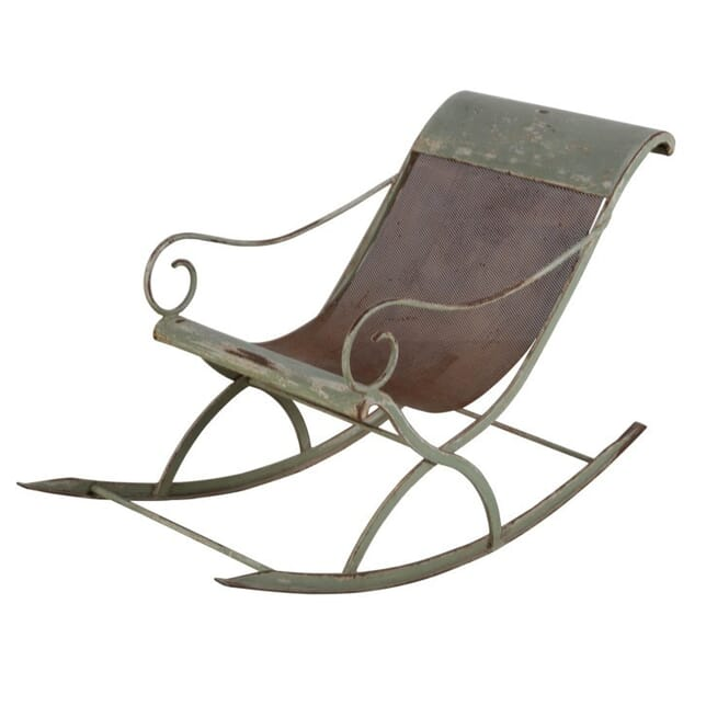 20th Century English Painted Metal Rocking Chair CH139942