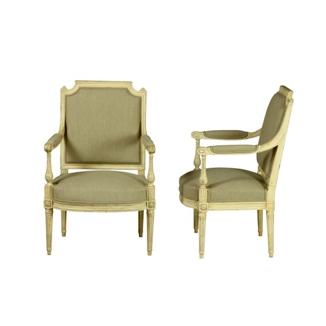 Pair of Louis XVI Revival Fauteuils CH150056