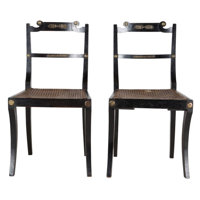 Pair of Egyptian Revival Chairs CH205179