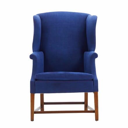 Edwardian Mahogany Wing Armchair CH068046