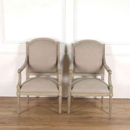 Pair of Louis XVI Armchairs CH7159819