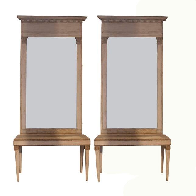 Pair of Italian Console Tables and Directoire Mirrors CO127463