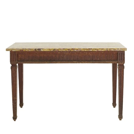 French 18th Century Console Table with Marble Top CO068320
