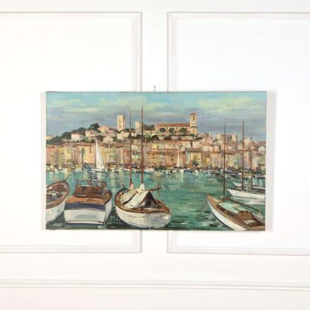 Cote d'Azur Harbour, Oil Painting on Canvas WD738784