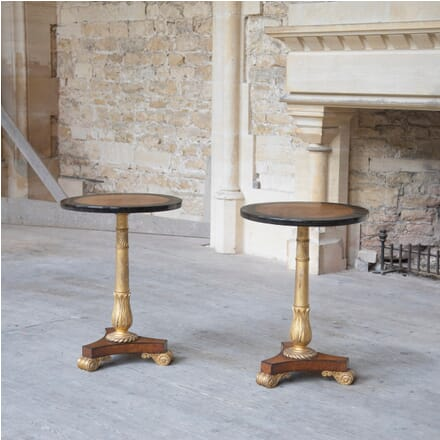 Pair of Early 19th Century Amboyna Ebony and Parcel Gilt Side Tables TC1062104