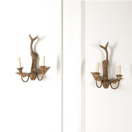 Pair of Flying Fish Wall Lights LW6011091