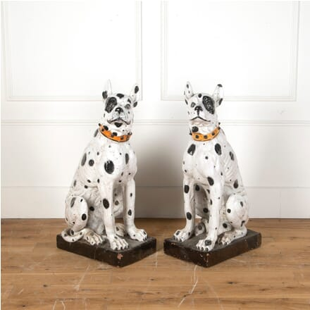 Pair of Terracotta Hounds OF0311209
