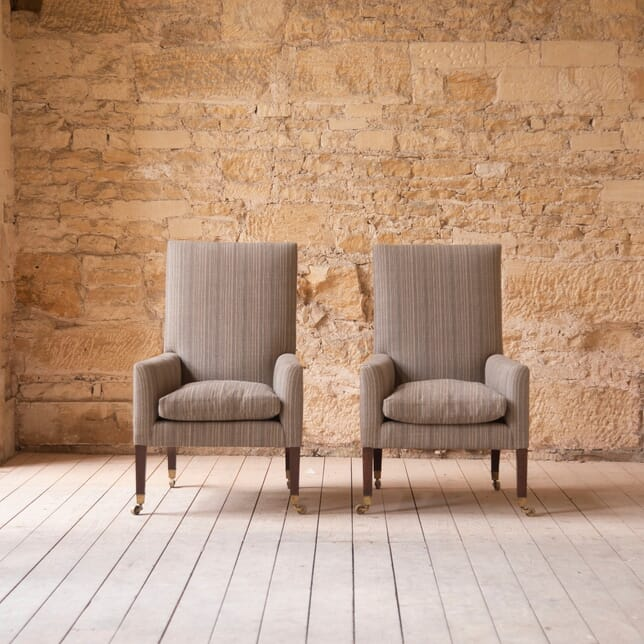 Large Pair of 19th Century Library Armchairs CH1060310